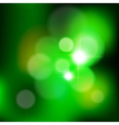 green bokeh from tree vector image