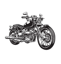 hand drawn motorcycle vector image vector image