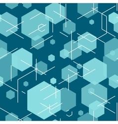 Hexagon seamless tech pattern vector image