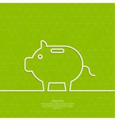 Icon pig piggy bank vector