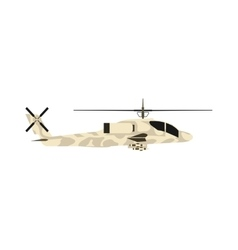 Military helicopter uh-60 hawk flat render air vector