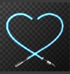 Modern concept heart and lightsaber for vector