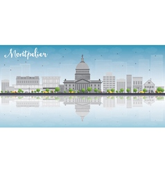 Montpelier vermont city skyline vector