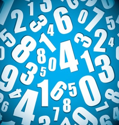 Number seamless background vector image vector image