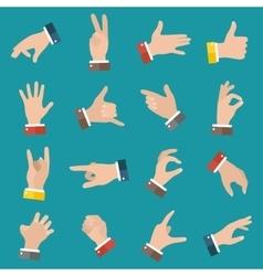 Open empty hands showing different gestures 16 vector image vector image