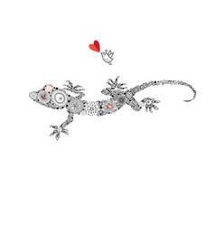 ornamental beautiful gecko vector image