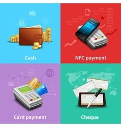 Payment realistic set vector