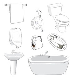 Sanitary ware bathroom vector