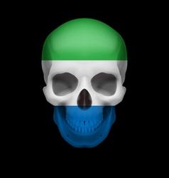 Sierra leone flag skull vector