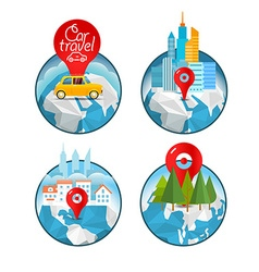 Vacation travelling concept travel take vac vector
