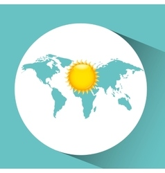 Weather concept forecast sun icon design vector