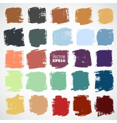 Abstract hand-painted square backgrounds vector image