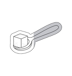 Isolated sugar and spoon design vector
