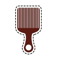 Isolated comb design vector
