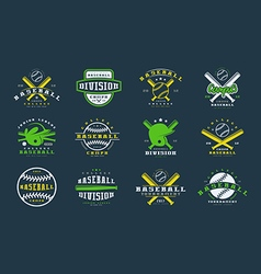 Badges set of baseball team vector