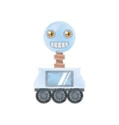 Drawing arificial intelligence robotic smiling vector