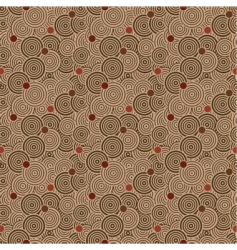 seamless circle pattern with dots vector image