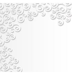 White patterned background  3d effect of paper vector