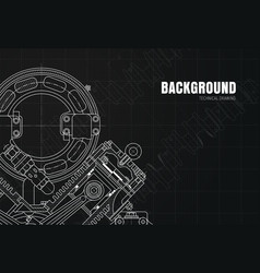 black background with drawing details on graph vector image