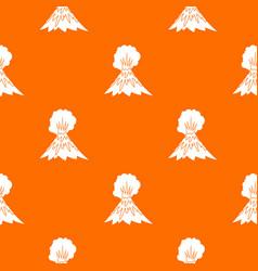 volcano erupting pattern seamless vector image