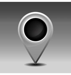 Blank marker pin vector