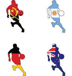 basketball colors of Angola Argentina Australia Ge vector image