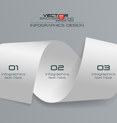 3d white paper infographics design vector