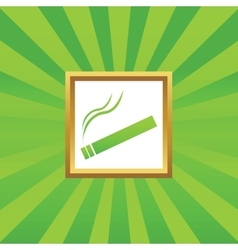 Smoking picture icon vector