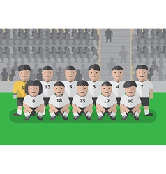 Soccer team before match flat graphic vector image
