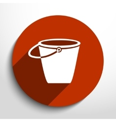 Bucket flat icon vector