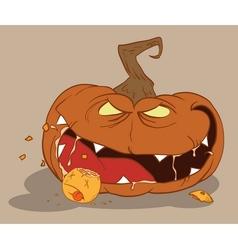 bloodthirsty pumpkin vector image