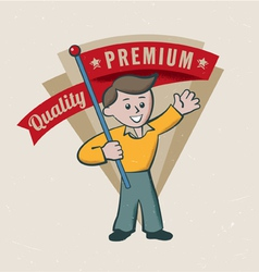 Retro vintage premium label vector image