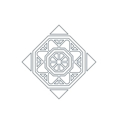 Lineart ornament vector
