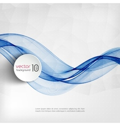 Abstract blue transparent wave background vector image vector image