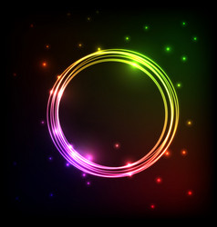 Abstract plasma background with colorful circles vector