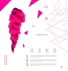 Artistic background design vector