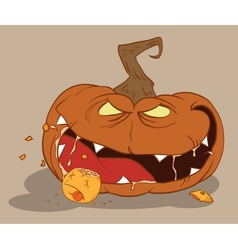 bloodthirsty pumpkin vector image vector image