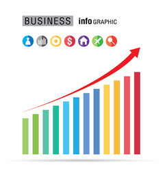 Business bar percentage chart infographic set on vector