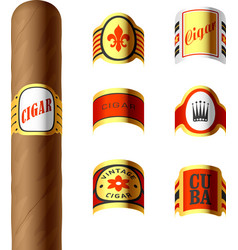 Cigar labels vector image