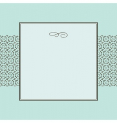 circle pattern and frame vector image vector image