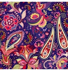 Colorful indian seamless pattern vector image vector image