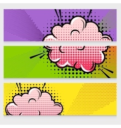 Comic sound effects banners set vector