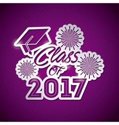 Congratulations class of 2017 card vector