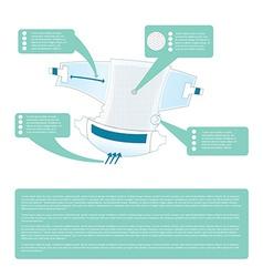 Diaper infographic vector