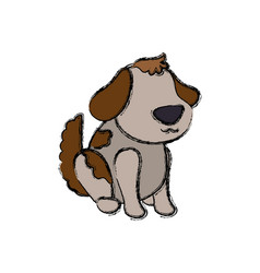 dog cartoon drawing sitting faceless vector image vector image