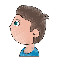 drawing head boy child vector image