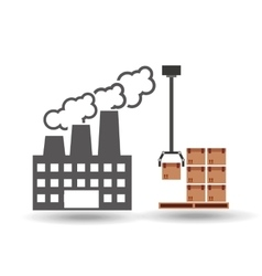 Factory and technolgy machine vector