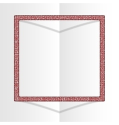 Frame sequins square glitter sparkle vector