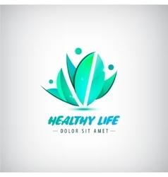 Healthy life logo man human organic logo vector