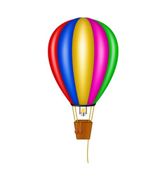 hot air balloon in coloured design vector image vector image